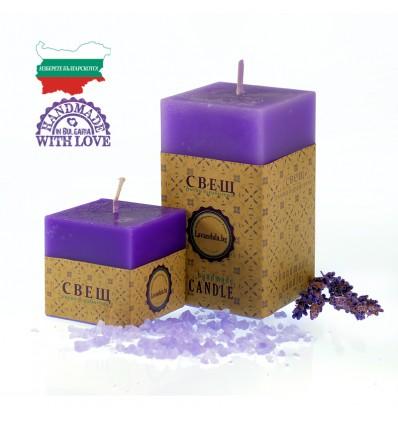 Ароматна свещ с лавандулово етерично масло