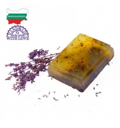 """Ръчно изработен прозрачен глицеринов сапун """"Лавандула"""""""